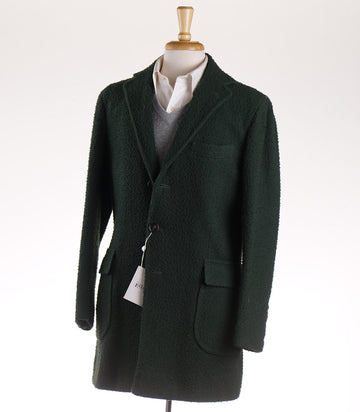 Orazio Luciano Casentino Wool Coat in Forest Green