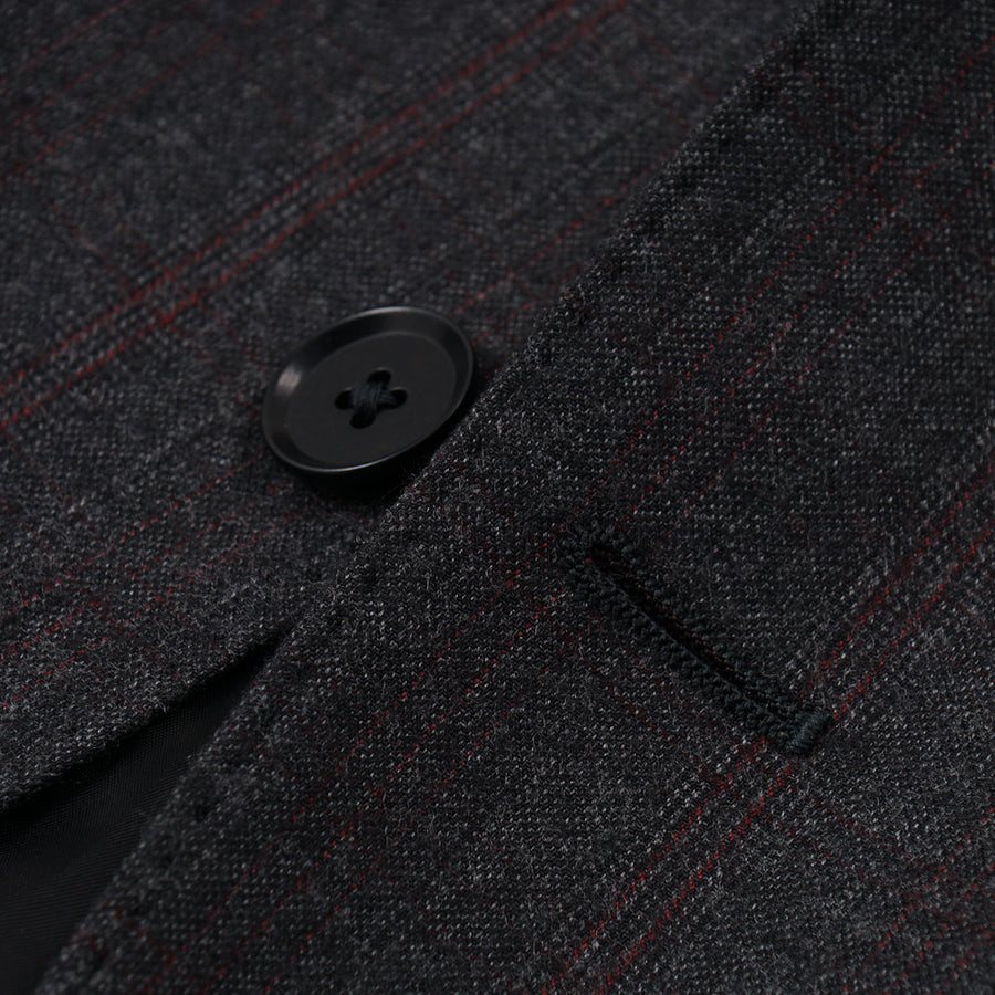 Isaia Mid-Weight Flannel Wool Suit