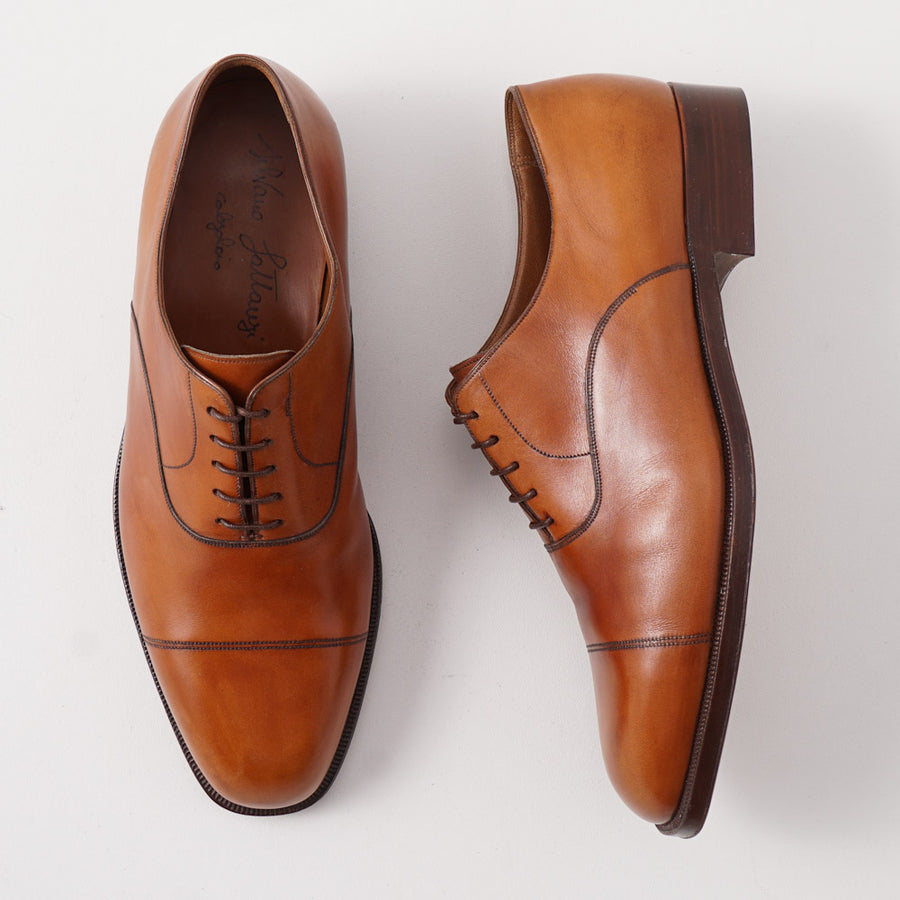 Silvano Lattanzi Cap Toe Balmoral in British Tan