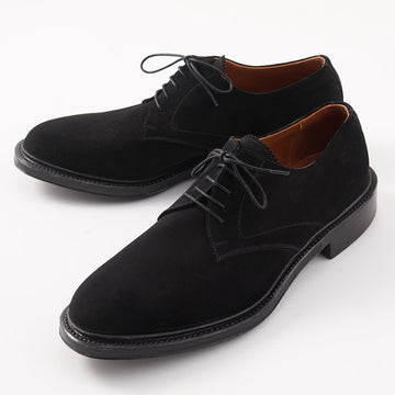 Silvano Lattanzi Plain Toe Derby in Black Suede