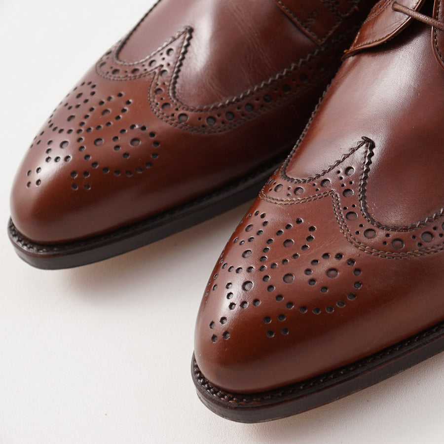 Silvano Lattanzi Brogued Wingtip Derby in Medium Brown