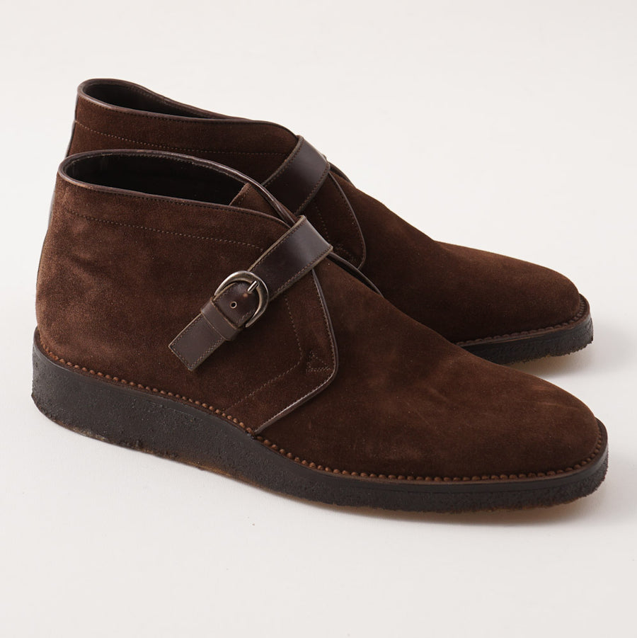 Silvano Lattanzi Chukka Boots in Chocolate Suede
