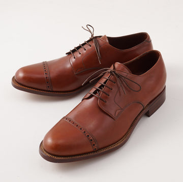 Silvano Lattanzi Cap Toe Derby in Terra Cotta