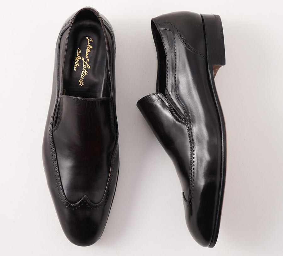 Silvano Lattanzi Wingtip Loafer in Black - Top Shelf Apparel