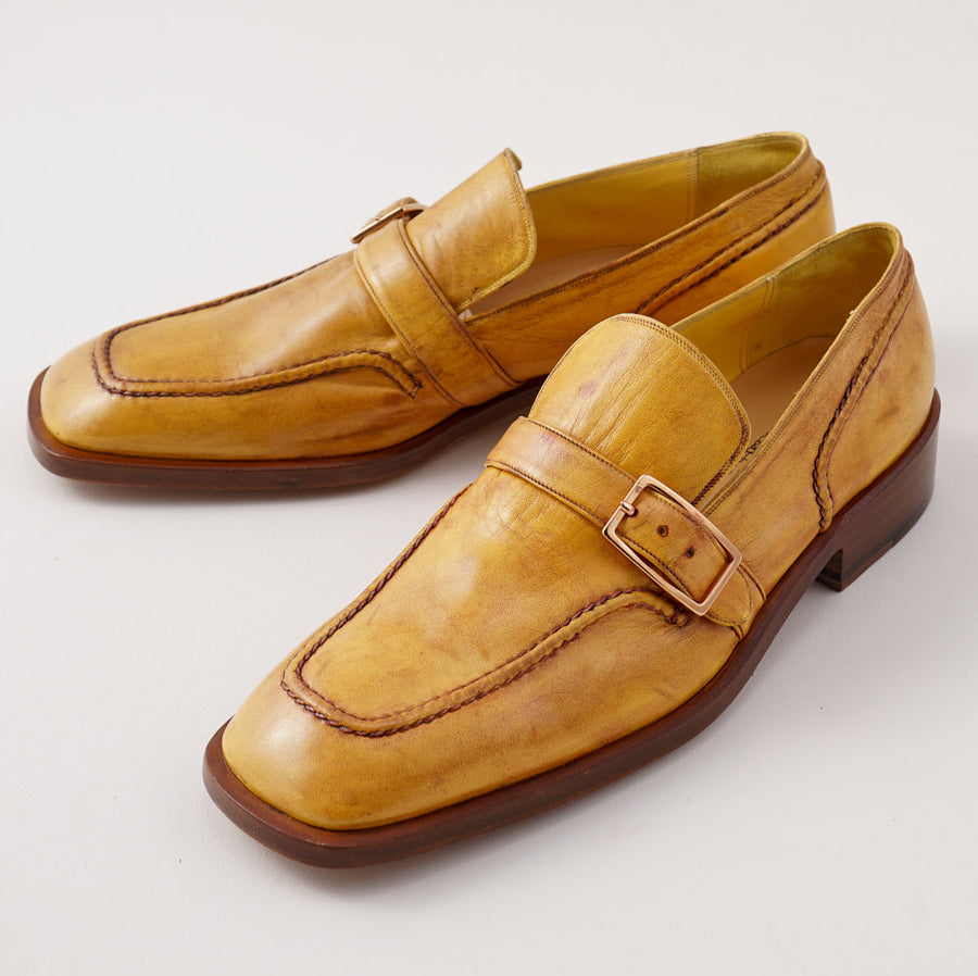 Silvano Lattanzi Monk Strap Loafer in Golden Tan - Top Shelf Apparel