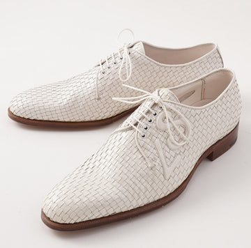 Silvano Lattanzi Woven Intrecciato Derby in White