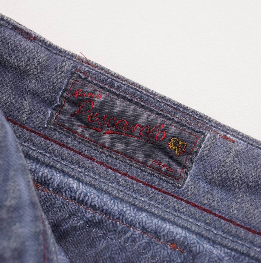 Marco Pescarolo Slim Jeans in Overdyed Gray