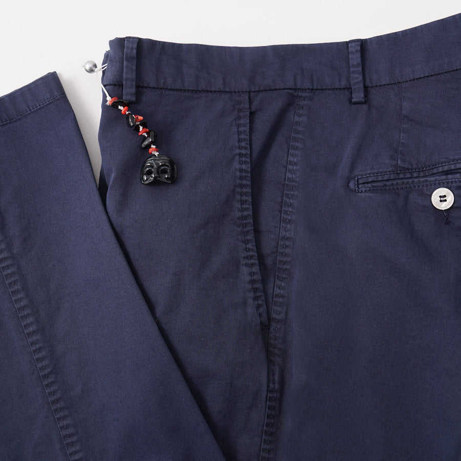Marco Pescarolo Slim-Fit Chinos in Navy Blue