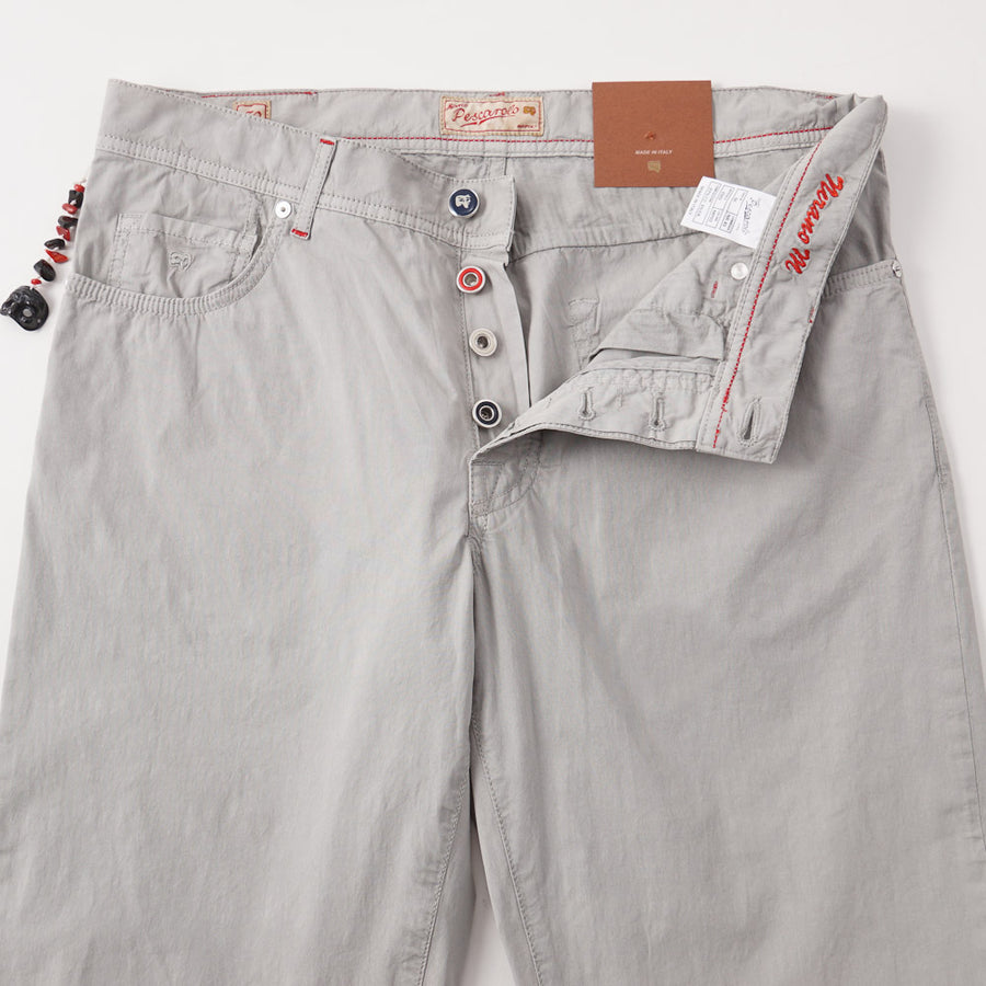 Marco Pescarolo Lightweight Jeans in Stone Gray - Top Shelf Apparel