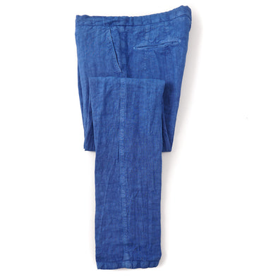 Marco Pescarolo Casual Linen Pants in Washed Blue