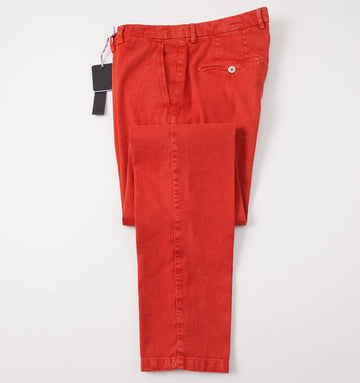 Marco Pescarolo Linen and Cotton Chinos in Red