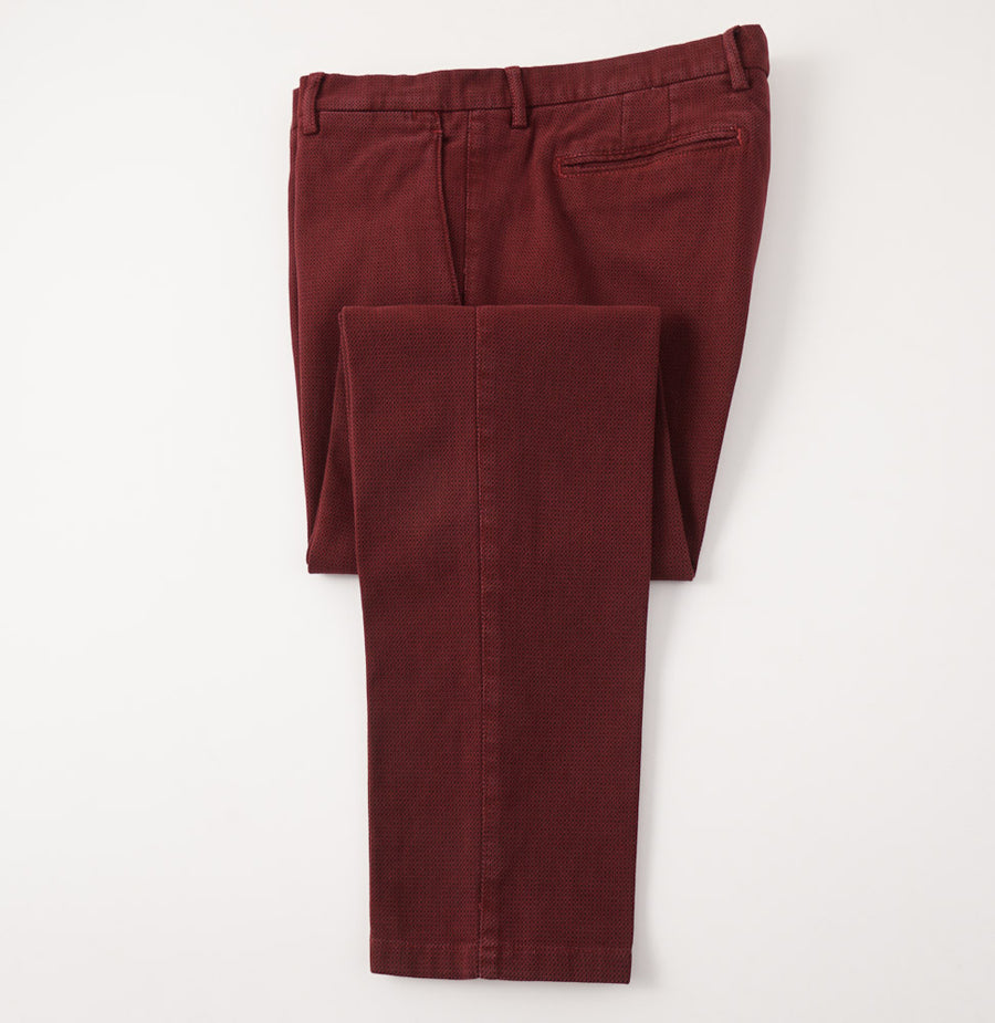 Marco Pescarolo Woven Red and Black Cotton Pants