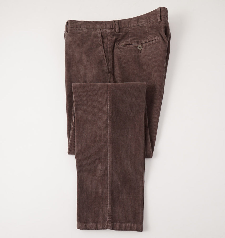 Marco Pescarolo Corduroy Pants in Cocoa Brown