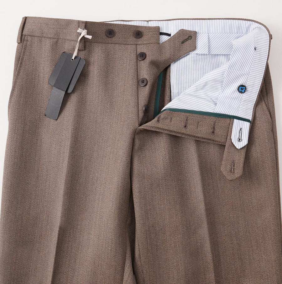 Marco Pescarolo Wool Pants in Brown Twill - Top Shelf Apparel