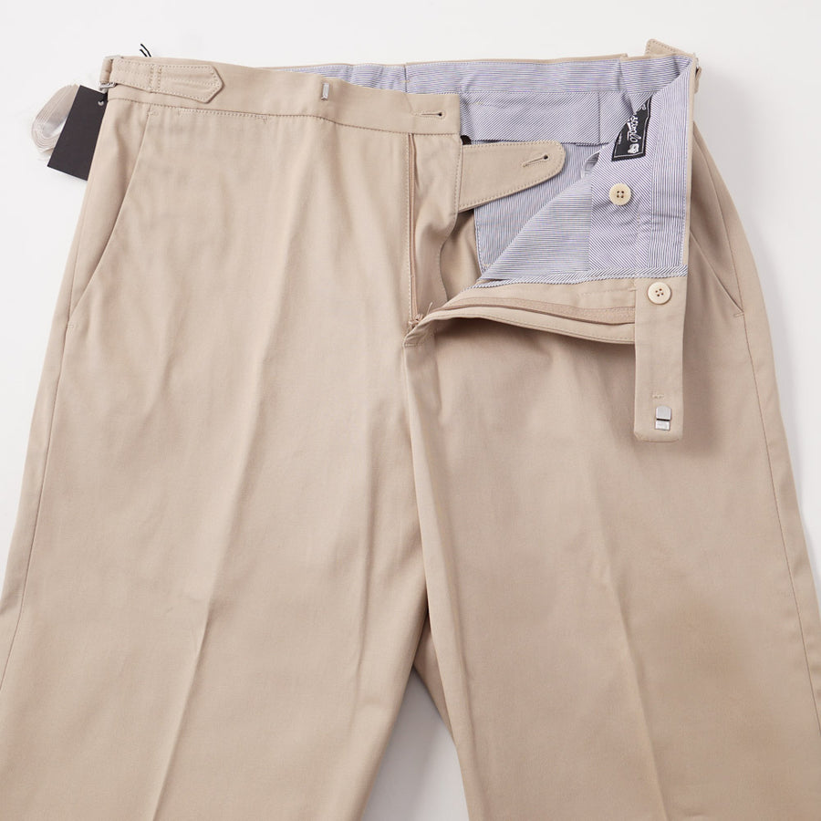 Marco Pescarolo Classic-Fit Chinos in Tan Twill