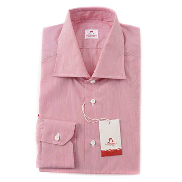 Mattabisch Cotton Shirt in Red and White Stripe