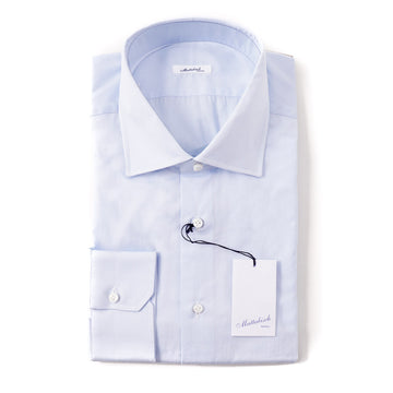 Mattabisch Cotton Shirt in Light Sky Blue Solid - Top Shelf Apparel