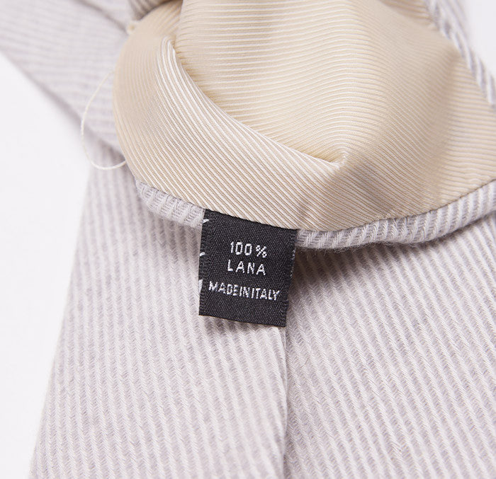 Mattabisch Heather Gray Merino Wool Necktie - Top Shelf Apparel - 5