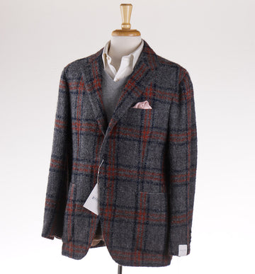 Orazio Luciano Wool-Alpaca Sport Coat in Gray Check