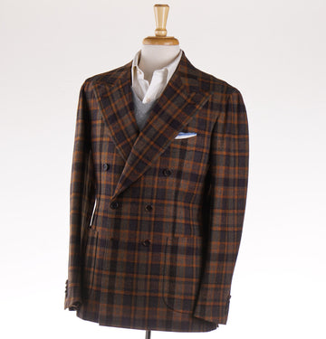 Orazio Luciano Wool Sport Coat in Plum Plaid