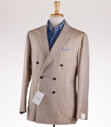 Orazio Luciano Patterned Linen-Silk-Wool Sport Coat