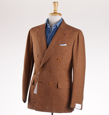 Orazio Luciano Wool-Silk-Linen Sport Coat in Golden Brown