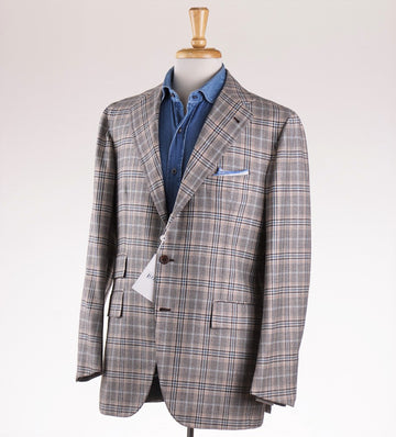 Orazio Luciano Wool Sport Coat in Light Brown Check