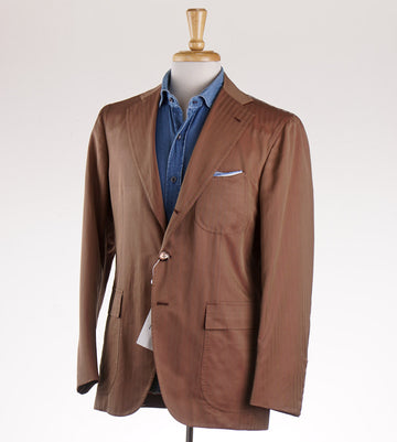 Orazio Luciano Herringbone Cotton and Silk Sport Coat