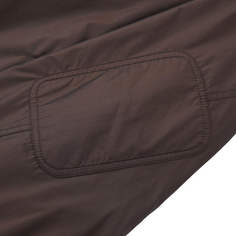 Isaia Chocolate Brown Reversible Jacket