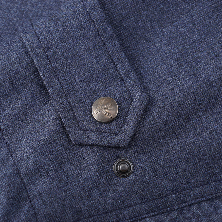 Isaia Weather-Repellent Field Jacket in Denim Blue