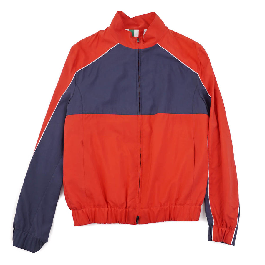 Kiton Lightweight Color Block Silk Jacket