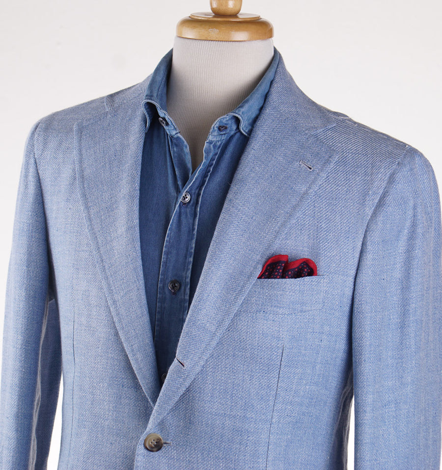 Orazio Luciano Linen and Silk Sport Coat in Sky Blue