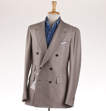 Orazio Luciano Houndstooth Silk and Wool Sport Coat