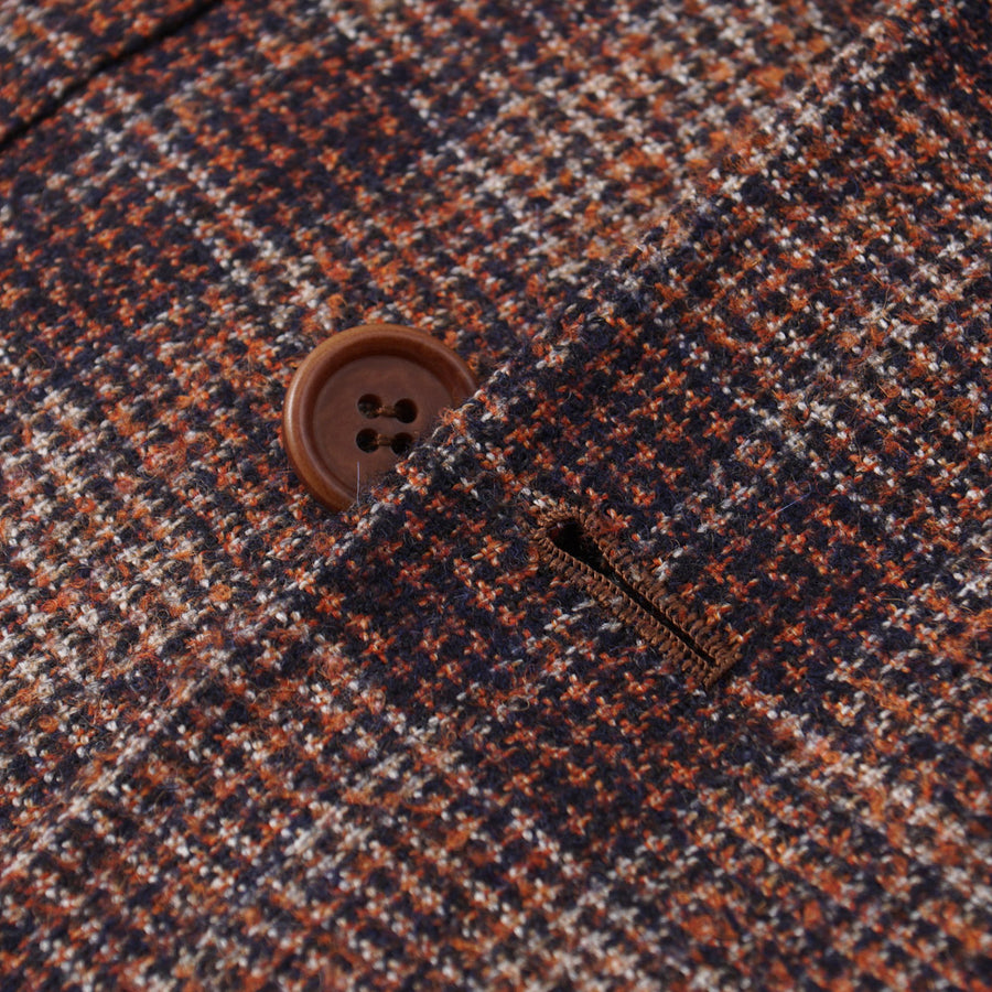 Orazio Luciano Alpaca-Wool Sport Coat in Rust Check