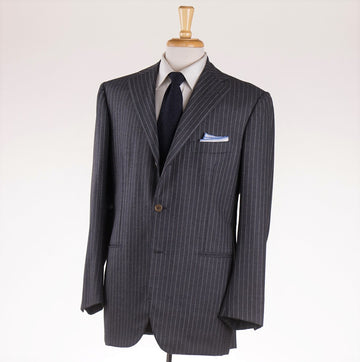 Orazio Luciano Gray Stripe Wool-Cashmere Suit - Top Shelf Apparel