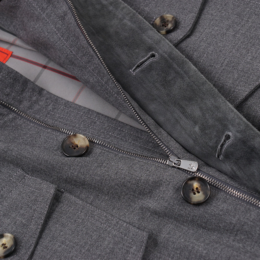 Isaia Storm System Wool Field Jacket