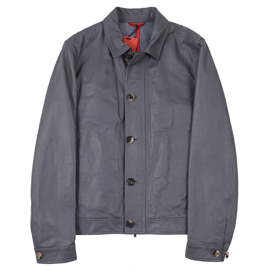 Isaia Flight Jacket in Water Repellent Leather - Top Shelf Apparel
