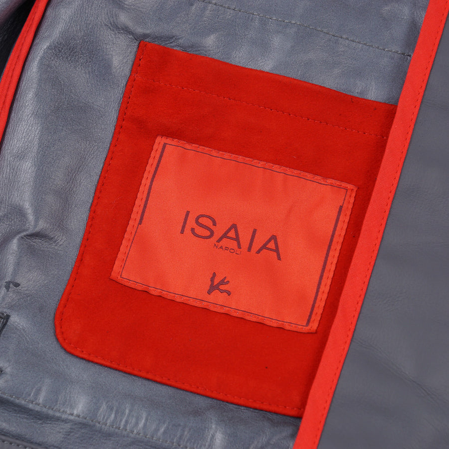 Isaia Field Jacket in Water Repellent Leather