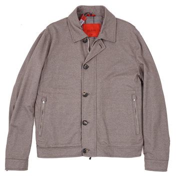 Isaia Cashmere-Silk Jersey Flight Jacket