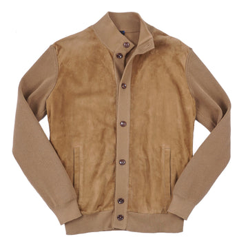 Cesare Attolini Knit Bomber Jacket with Suede Front - Top Shelf Apparel