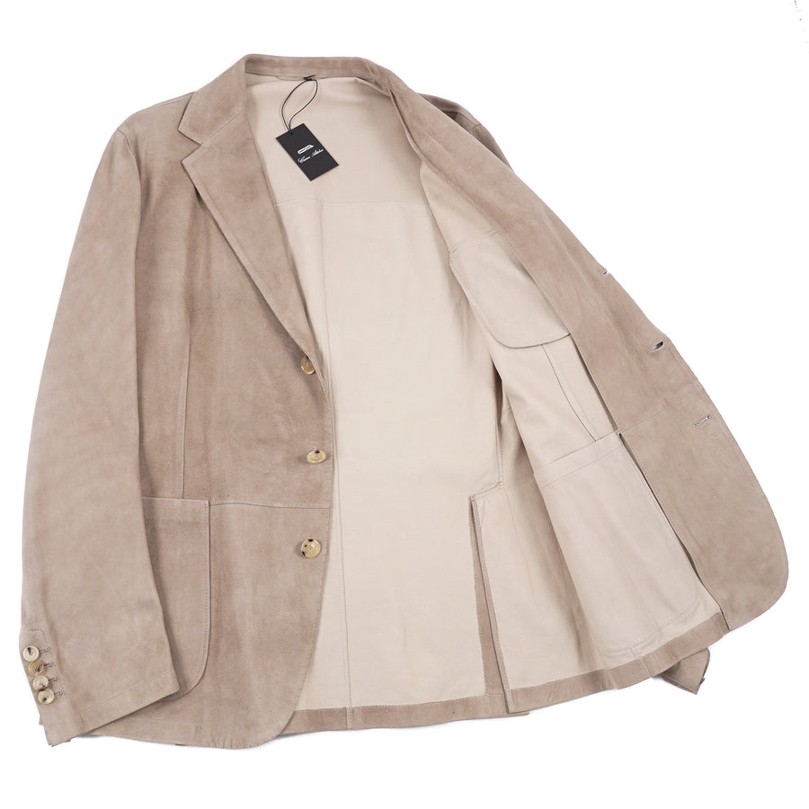 Cesare Attolini Unlined Lambskin Suede Blazer - Top Shelf Apparel
