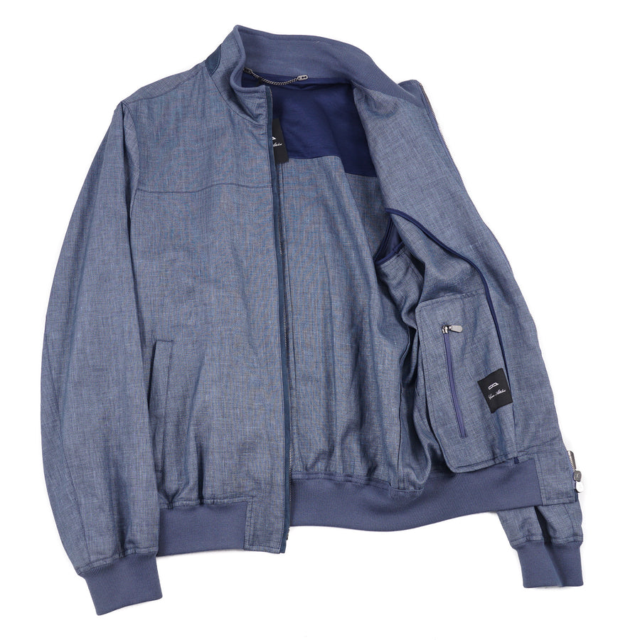 Cesare Attolini Wool-Linen-Silk Bomber Jacket - Top Shelf Apparel