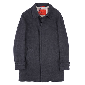 Isaia 'Aqua Jersey' Wool-Blend Coat - Top Shelf Apparel