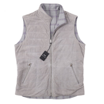 Cesare Attolini Reversible Lambskin Suede Vest - Top Shelf Apparel