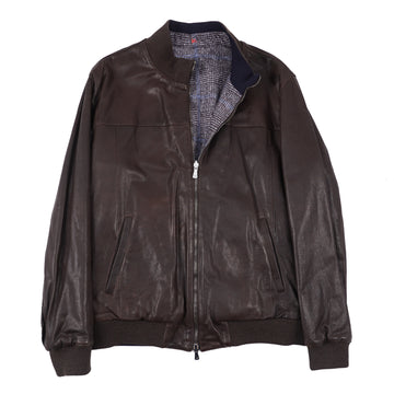 Isaia Reversible Lambskin Leather Jacket - Top Shelf Apparel
