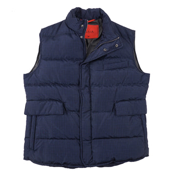 Isaia 'Aqua Print' Quilted Puffer Down Vest - Top Shelf Apparel