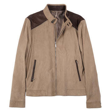 Brioni Nappa Suede and Leather Jacket