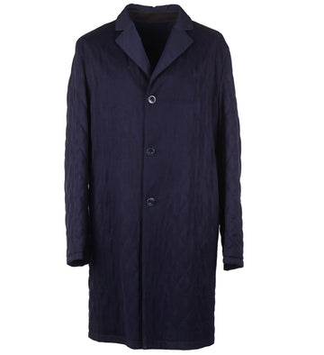 Kiton Reversible Quilted Cashmere Overcoat