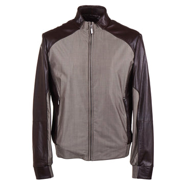 Brioni Baby Buffalo Leather-Trimmed Jacket