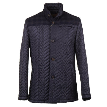 Luciano Barbera Quilted Puffer Shirt-Jacket